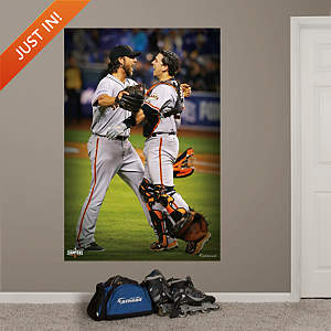 Bumgarner and Posey 2014 World Series Celebration Mural Fathead Wall Decal