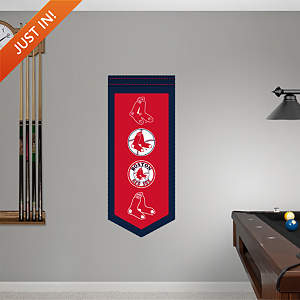 Boston Red Sox Logo Evolution Banner Fathead Wall Decal