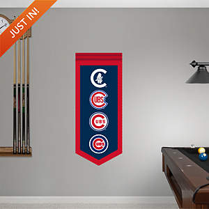 Chicago Cubs Logo Evolution Banner Fathead Wall Decal