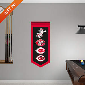 Cincinnati Reds Logo Evolution Banner Fathead Wall Decal