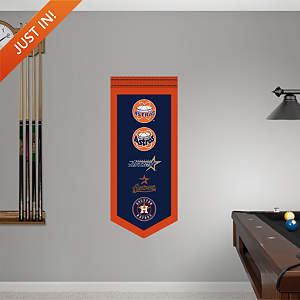 Houston Astros Logo Evolution Banner Fathead Wall Decal