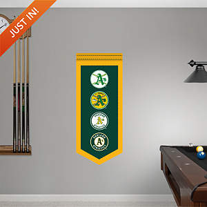 Oakland Athletics Logo Evolution Banner Fathead Wall Decal