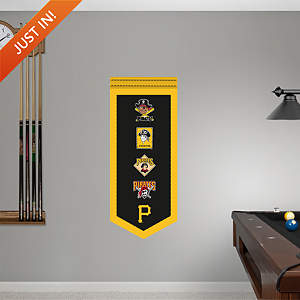 Pittsburgh Pirates Logo Evolution Banner Fathead Wall Decal
