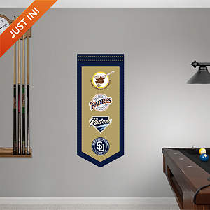 San Diego Padres Logo Evolution Banner  Fathead Wall Decal