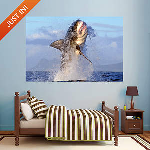 Great White Shark - Breaching Fathead Wall Decal