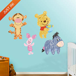 Winnie the Pooh Sketch Collection Fathead Wall Decal