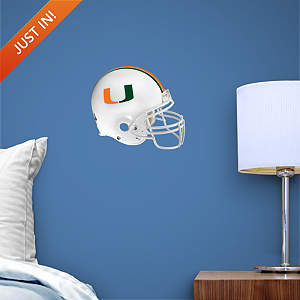 Miami Hurricanes Teammate Helmet Fathead Decal