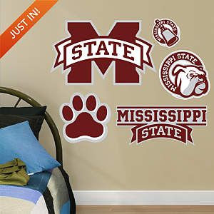 Mississippi State Bulldogs - Team Logo Assortment Fathead Wall Decal