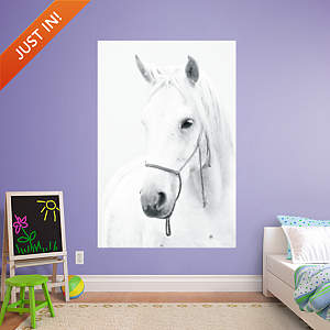 White Horse Mural Fathead Wall Decal