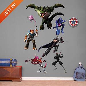 Teenage Murtant Ninja Turtles Enemies Collection Fathead Wall Decal