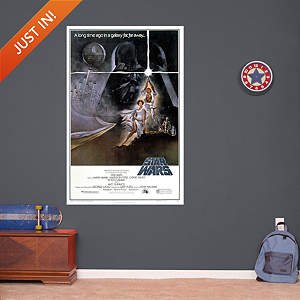 Star Wars Episode IV: A New Hope Movie Poster Mural Fathead Wall Decal