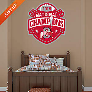 Ohio State Buckeyes 2014 CFP National Champions Logo Fathead Wall Decal