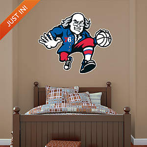 Philadelphia 76ers Ben Franklin Logo Fathead Wall Decal