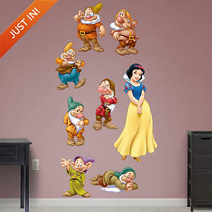 Snow White and 7 Dwarfs Collection Fathead Wall Decal