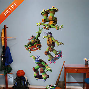 Teenage Mutant Ninja Turtles - Skateboarding Collection Fathead Wall Decal