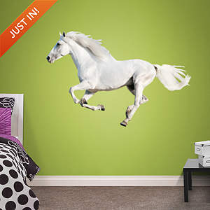 White Horse Running Fathead Wall Decal