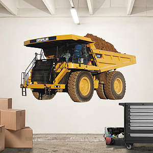 Cat Off Highway Mining Truck Fathead Wall Decal
