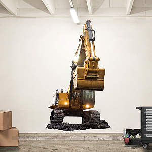 Cat Excavator Fathead Wall Decal