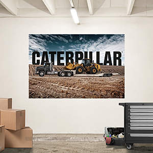 Cat Semi Hauling Loader Mural Fathead Wall Decal