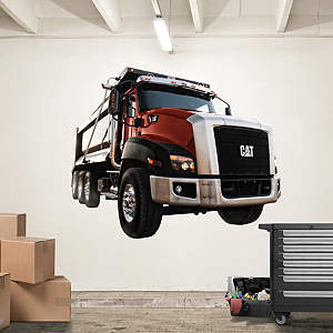 Cat Highway Truck Fathead Wall Decal