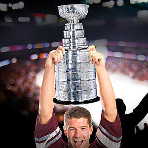 The Stanley Cup Big Head Cut Out