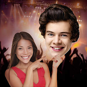 Big Head cut out of Harry Styles from Fathead