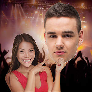 Liam Payne 1D Big Head Cut Out