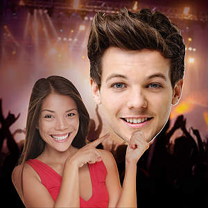 Louis Tomlinson 1D Big Head Cut Out