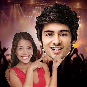 Zayn Malik 1D Big Head Cut Out