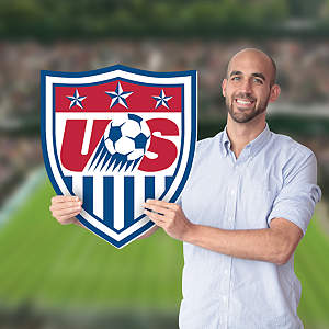 US Soccer Crest Big Head Cut Out