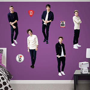 Life Size One Direction Fathead Wall Decal