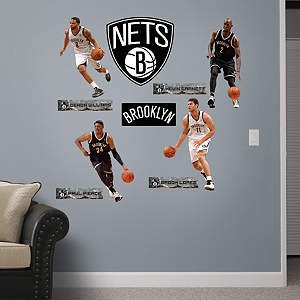 Brooklyn Nets Power Pack Fathead Wall Decal