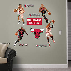Chicago Bulls Power Pack Fathead Wall Decal