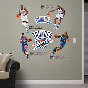 Oklahoma City Thunder Power Pack Fathead Wall Decal