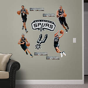 San Antonio Spurs Power Pack Fathead Wall Decal