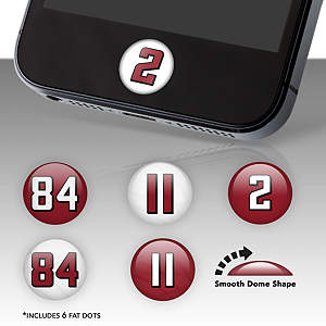 Atlanta Falcons Player Number Fat Dots Stickers