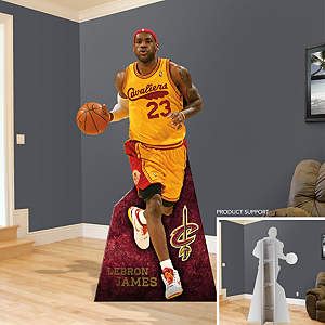 Life-Size Cut Out of LeBron James Fathead Stand Out