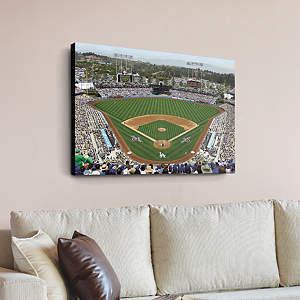 Yasiel puig mural wall decal shop fathead for los for Dodger stadium wall mural