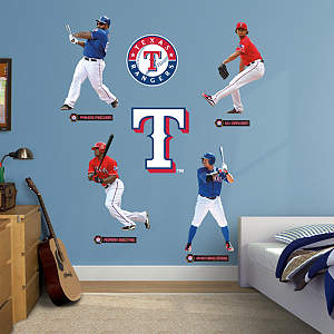 Texas Rangers Power Pack Fathead Wall Decal