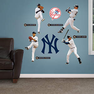 New York Yankees Power Pack Fathead Wall Decal