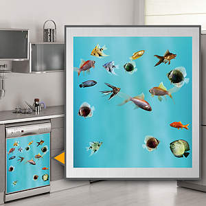 Fish Tank: Dishwasher Skin Fathead Wall Decal