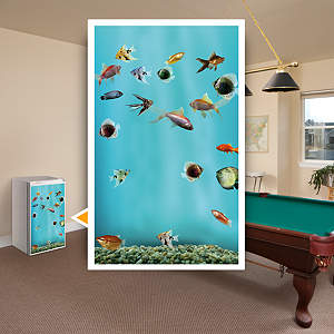 Fish Tank: Mini Fridge Skin Fathead Wall Decal