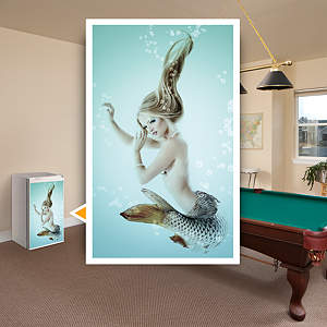 Mermaid: Mini Fridge Skin Fathead Wall Decal