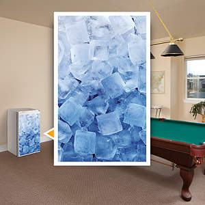 Ice Cubes: Mini Fridge Skin Fathead Wall Decal