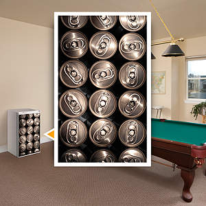 Can Stack: Mini Fridge Skin Fathead Wall Decal
