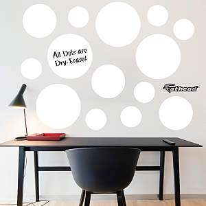 White Dry Erase Message Dots Fathead Wall Decal