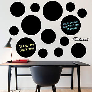 Black Dry Erase Message Dots Fathead Wall Decal