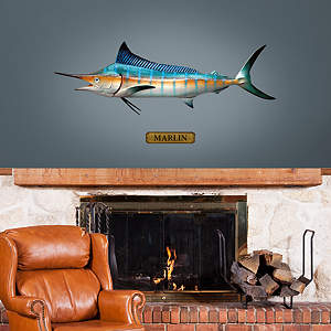 Mounted Marlin Fathead Wall Decal
