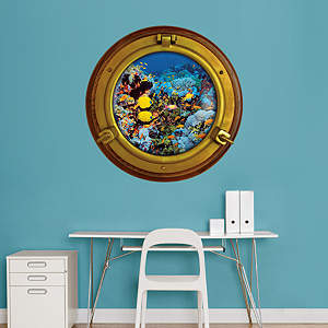 Tropical Reef: Porthole Fathead Wall Decal