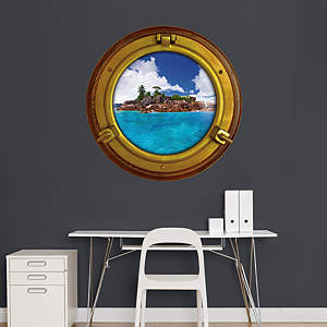 Tropical Island: Porthole Fathead Wall Decal